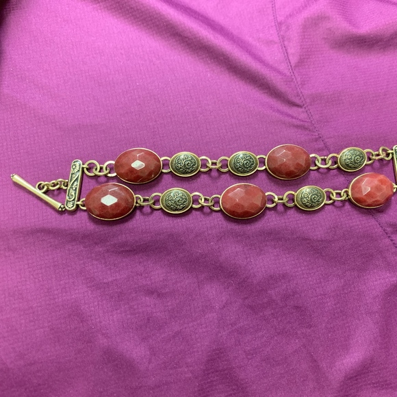 Lucky Brand Jewelry - Lucky Brand Gold Color and Stone Bracelet